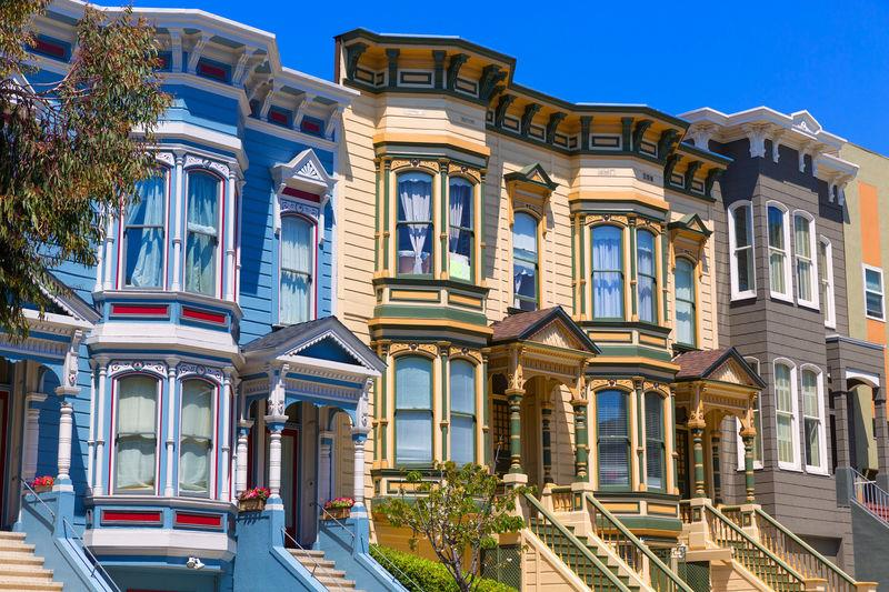 Victorian houses in Pacific Heights